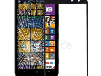 Front Screen Outer Glass Lens for Nokia Lumia 1320(Black)