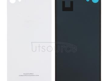 For Meizu U10 / Meilan U10 Glass Battery Back Cover with Adhesive(White)