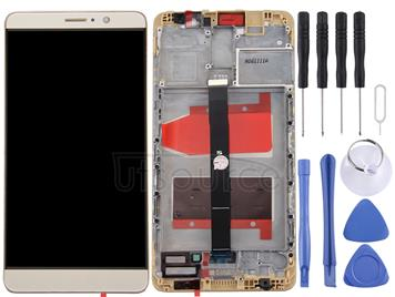 For Huawei Mate 9 LCD Screen and Digitizer Full Assembly with Frame(Champagne Gold)