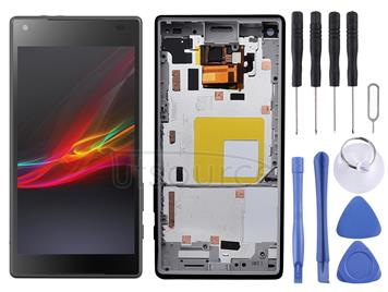 LCD Screen and Digitizer Full Assembly with Frame for Sony Xperia Z5 Compact / E5803 / E5823 / Z5 mini(Black)