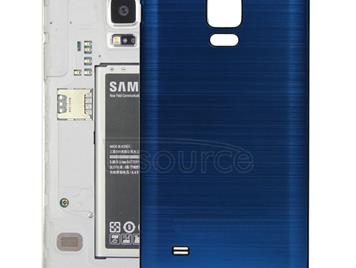 Black Edge Brushed Texture Back Cover  for Galaxy Note 4(Dark Blue)