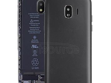 Back Cover + Middle Frame Bezel Plate for Galaxy J2 Pro (2018), J2 (2018), J250F/DS(Black)