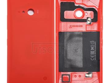 for Nokia Lumia 735 Solid Color NFC Battery Back Cover(Red)