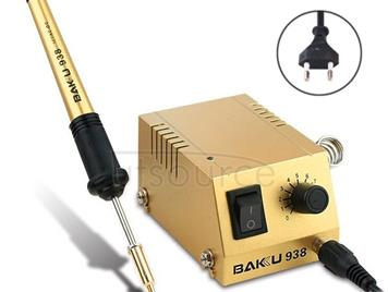 BAKU BK-938 AC 220V 1-18W Mini Thermostatic Soldering Station Electric Iron, EU Plug (Random Color Delivery)