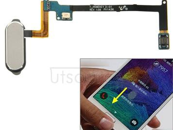 Home Button Flex Cable with Fingerprint Identification Function for Galaxy Note 4 / N910(Grey)