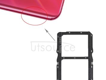 SIM Card Tray + SIM Card Tray for Huawei Nova 4 (Black)