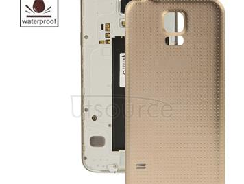 High Quality Plastic Material  Battery Housing Door Cover with Waterproof Function for Galaxy S5 / G900 (Gold)
