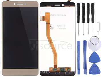 LCD Screen and Digitizer Full Assembly for Lenovo K6 Note(Gold)