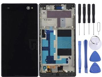 LCD Display + Touch Panel with Frame  for Sony Xperia C3 / D2533(Black)