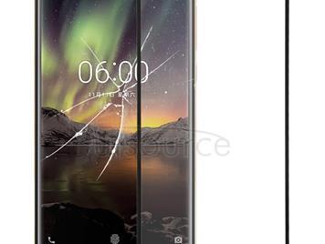 Front Screen Outer Glass Lens for Nokia 6 2018 / 6.1 SCTA-1043 TA-1045 TA-1050 TA-1054 TA-1068(Black)
