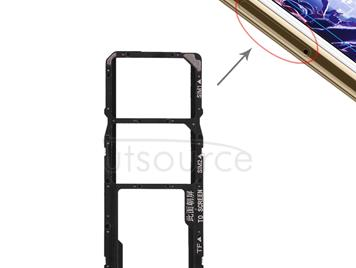 SIM Card Tray + Micro SD Card Tray for Huawei Y5 Prime (2018) / Honor Play 7 (Black)