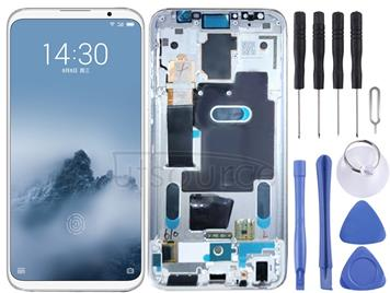 LCD Screen and Digitizer Full Assembly with Frame for Meizu 16 / 16th / M882H / M882Q(White)
