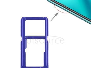 SIM Card Tray + SIM Card Tray / Micro SD Card Tray for OPPO R15(Blue)