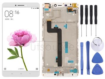 LCD Screen and Digitizer Full Assembly with Frame for Xiaomi Mi Max(White)