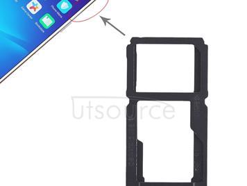 SIM Card Tray + SIM Card Tray / Micro SD Card Tray for OPPO R11(Black)