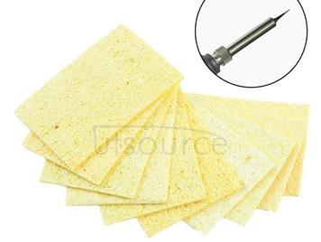 10 PCS High Temperature Resistant Soldering Iron Solder Tip Welding Cleaning Sponge Yellow Heatstable Cleaning Sponge