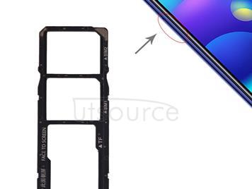 SIM Card Tray + SIM Card Tray + Micro SD Card Tray for Xiaomi Mi Play(Black)