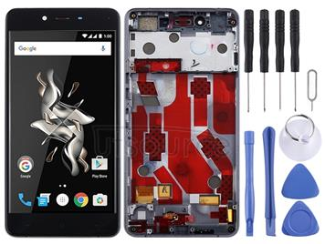 LCD Screen and Digitizer Full Assembly with Frame for OnePlus X E1003 (Black)