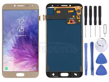 LCD Screen and Digitizer Full Assembly (TFT Material) for Galaxy J4, J400F/DS, J400G/DS(Gold)