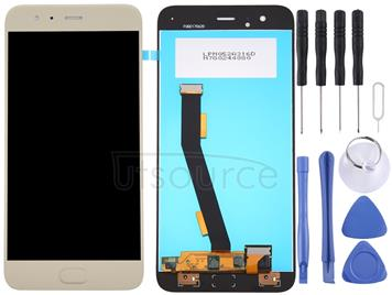 For Xiaomi Mi 6 LCD Screen and Digitizer Full Assembly, No Fingerprint Identification(Gold)