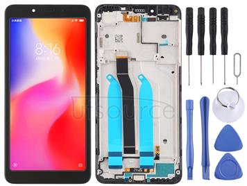 LCD Screen and Digitizer Full Assembly with Frame for Xiaomi Redmi 6A / Redmi 6 (Black)
