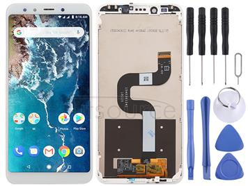 LCD Screen and Digitizer Full Assembly with Frame for Xiaomi Mi 6X / A2 (White)