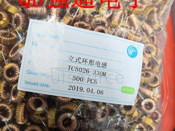 Ring inductance TC5026-33UH magnetic ring inductance 330k winding inductance coil inductance 0.6 line 3A CHINA Original