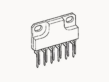 STA413A Trans GP BJT NPN 40V 3A Automotive 10-Pin SIP