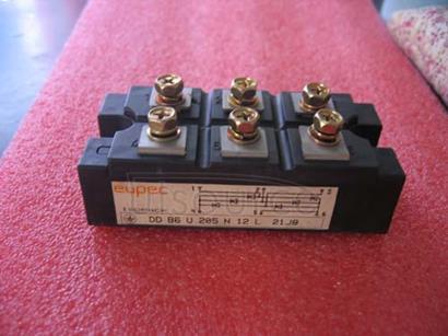DDB6U205N12L Diode Bridges<br/> Package: AG-ISOPACK-1<br/> VDRM/ VRRM V: 1,600.0 V<br/> IFSM max: 1,375.0 A<br/> Configuration: 3 phase bridge rectifier uncontrolled<br/> Housing: IsoPACK&#153<br/><br/>