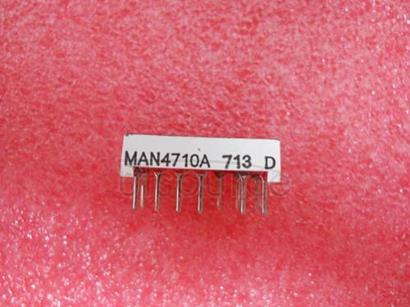MAN4710A 0.400-INCH SEVEN SEGMENT DISPLAYS