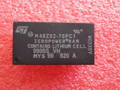 M48Z02-70PC1 5V, 16 Kbit 2Kb x 8 ZEROPOWER SRAM