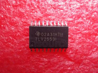 TLV2553IDW 12-Bit, 200 KSPS, 11 Channel, Low Power, Serial ADC Serial Out, w/Pwrdwn 20-SOIC -40 to 85