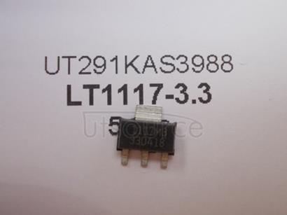 LT1117-3.3 800mA Low Dropout Positive Regulators Adjustable and Fixed 3.3V800mA,(3.3V)