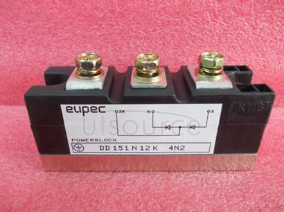 DD151N12K SCR / Diode Modules up to 1400V Diode / Diode Phase Control