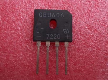GBU606 6.0A GLASS PASSIVATED BRIDGE RECTIFIER