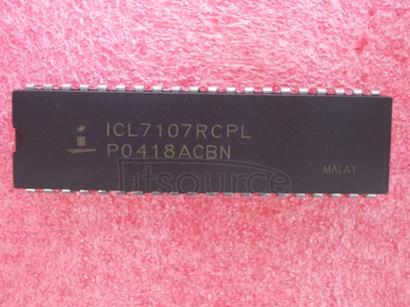 ICL7107RCPL 3 1/2 Digit, LCD/LED Display, A/D Converters
