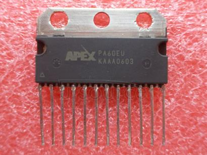 PA60EU Operational Amplifier Op-Amp IC<br/> No. of Amplifiers:2<br/> Op Amp Type:High Current<br/> Gain Bandwidth -3db:1.4MHz<br/> Slew Rate:1.4V/&#181<br/>s<br/> Supply Voltage Min:4V<br/> Supply Voltage Max:40V<br/> No. of Pins:12<br/> Bandwidth Max:13.6kHz <br/>