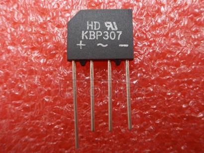 KBP307 Single Phase 3.0 AMPS. Glass Passivated Bridge Rectifiers