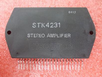 STK4231 2-Channel 100W min AF Power AmpDual Supplies, Thick Film Hybrid IC