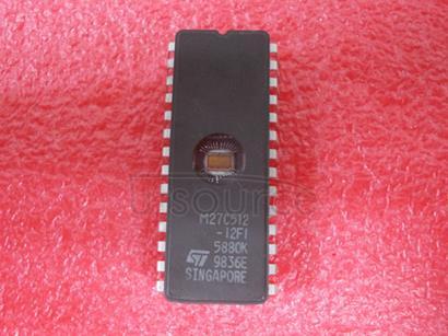 M27C512-12FI 512 Kbit 64K x8 UV EPROM and OTP EPROM