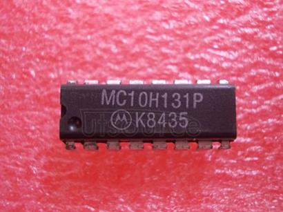 MC10H131P Dual Type D Master-Slave Flip-Flop<br/> Package: PDIP-16<br/> No of Pins: 16<br/> Container: Rail<br/> Qty per Container: 25