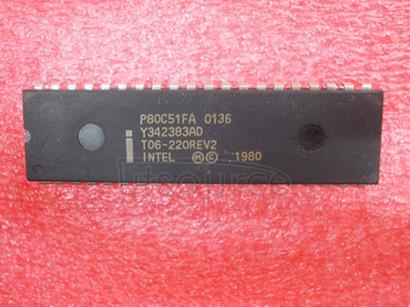 P80C51FA 80C51 8-bit microcontroller family 8K.64K/256.1K OTP/ROM/ROMless, low voltage 2.7V.5.5V, low power, high speed 33 MHz