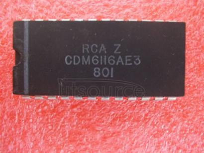 CDM6116AE3 High-Reliability   CMOS   2048-Word  by  8-bit   LSI   Static   RAM