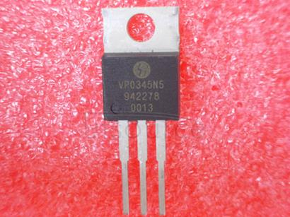 VP0345N5 A, 450 V, 7.5 ohm,  P-CHANNEL , Si,  POWER ,  MOSFET ,  TO-220