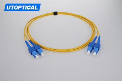 1m (3ft) SC APC to SC APC Simplex 2.0mm PVC(OFNR) 9/125 Single Mode Fiber Patch Cable