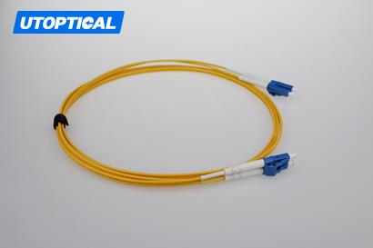 2m (7ft) LC UPC to LC UPC Simplex 2.0mm PVC(OFNR) 9/125 Single Mode Fiber Patch Cable