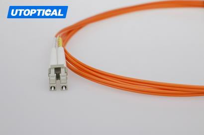 30m (98ft) LC UPC to LC UPC Simplex 2.0mm PVC(OFNR) OM2 Multimode Fiber Optic Patch Cable