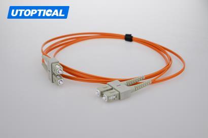 2m (7ft) SC UPC to SC UPC Duplex 2.0mm PVC(OFNR) OM2 Multimode Fiber Optic Patch Cable
