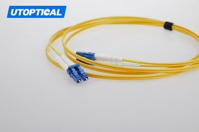 5m (16ft) LC UPC to ST UPC Duplex 2.0mm PVC(OFNR) 9/125 Single Mode Fiber Patch Cable