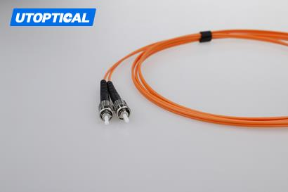 3m (10ft) LC UPC to ST UPC Duplex 2.0mm PVC(OFNR) OM2 Multimode Fiber Optic Patch Cable